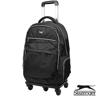 Slazenger 史萊辛格 21吋可拆式拉桿後背包(黑)