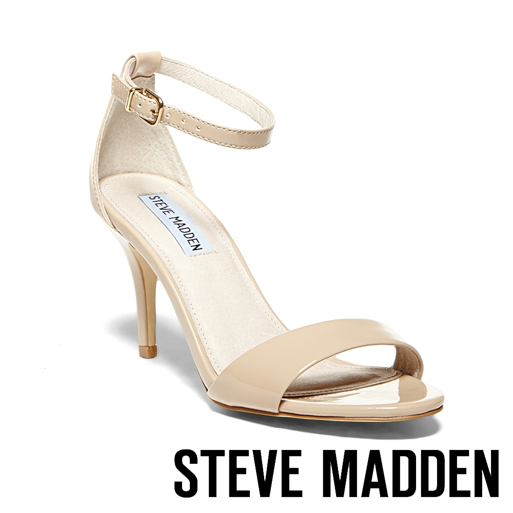 STEVE MADDEN-SILLLY 氣質百搭一字高跟涼鞋-鏡粉色