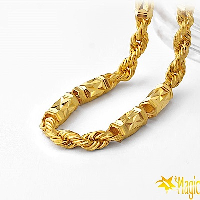 Magic魔法金-富貴永恆黃金項鍊(約10.50台錢)(約長60cm)