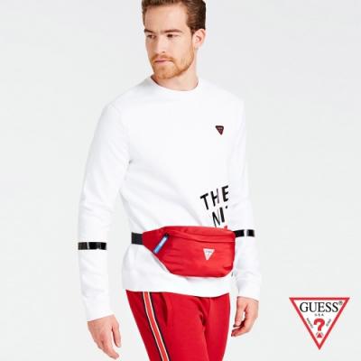 GUESS-男包-簡約素色尼龍腰包-紅