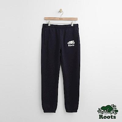 Roots 男裝-經典棉質長褲-藍
