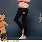台灣製造~格紋KITTY彈力磨毛假兩件式內搭褲裙-OB嚴選