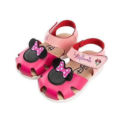 迪士尼童鞋 米妮 手工涼鞋-桃粉
