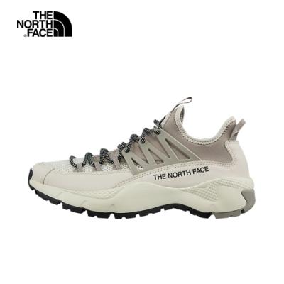 The North Face北面男款白灰色抓地耐磨徒步鞋|4O98XXP