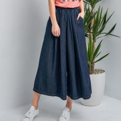 【白鵝buyer】韓國製萌系寬版牛仔褲裙(2色可選)