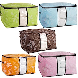 iSFun 居家收納 無紡布透視棉被袋 超值2入60x44x36cm