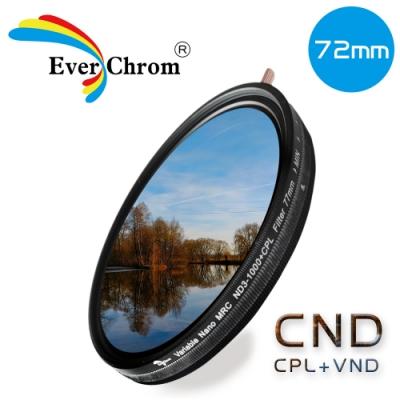 EverChrom 彩宣 CND 72mm可調式減光偏光多功濾鏡