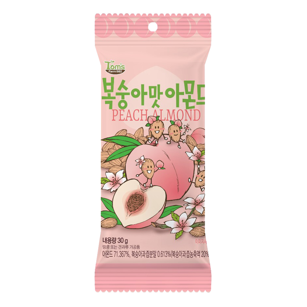 韓國Toms Gilim 杏仁果-水蜜桃味(30g)