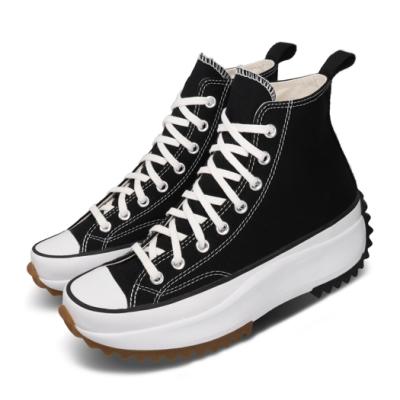 Converse 休閒鞋 Run Star Hike 穿搭 厚底 舒適 帆布 平民版 簡約 時尚 黑 白 女鞋 166800C