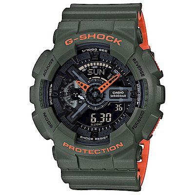 G-SHOCK 時尚運動超人氣雙顯運動錶(GA-110LN-3A)-51.2mm