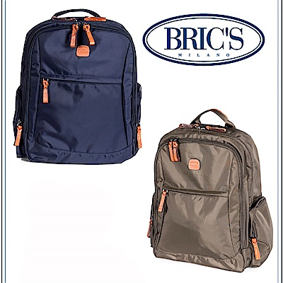 BRICS 義大利 深藍色 大容量後背包可固定於拉桿