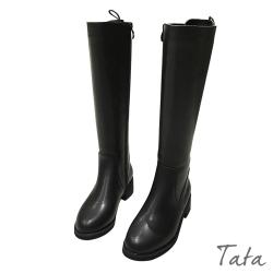 後綁帶素色長靴 TATA