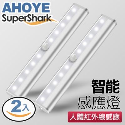 美國SuperShark 智能10LED磁吸式感應燈(電池式) 正白光
