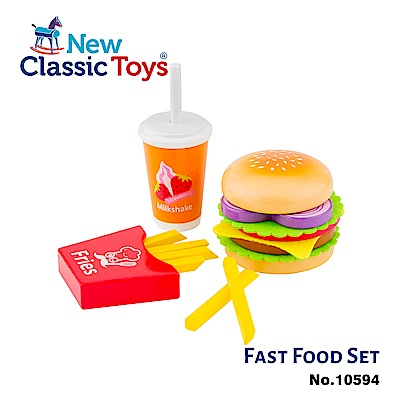 荷蘭New Classic Toys 牛肉起司漢堡套餐 - 10594