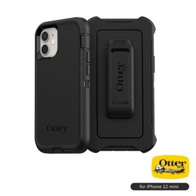OtterBox iPhone 12 mini (5.4吋)專用 防刮防塵防摔手機保護殼-Defender防禦者系列■黑