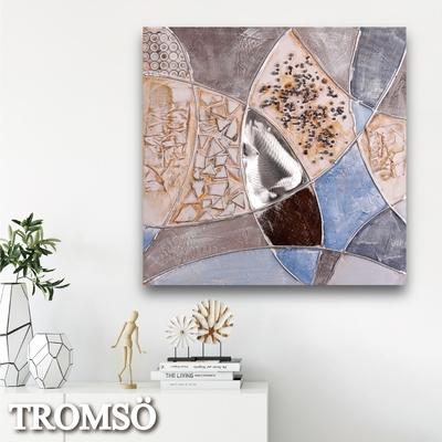 TROMSO 時尚無框畫抽象藝術-悠藍百景W423