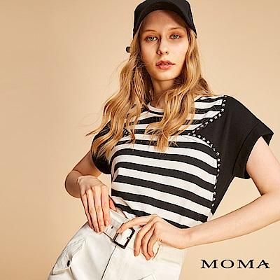 MOMA 圓領條紋星星貼片T恤