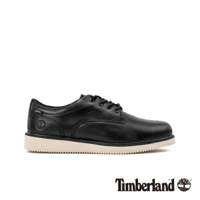 Timberland 男款黑色全粒面革防水休閒鞋|A2742