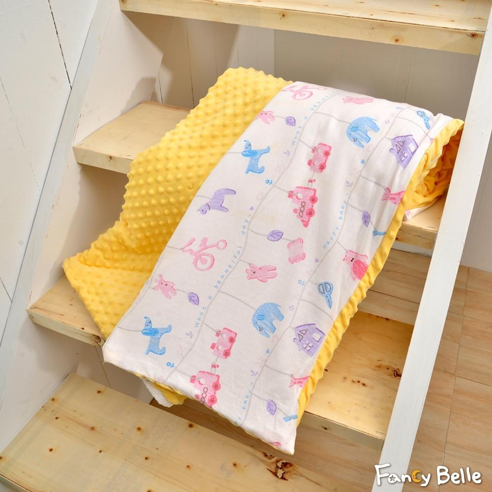 義大利Fancy Belle 晚安寶貝 雙層紗防蹣抗菌吸濕排汗兒童兩用豆豆毯
