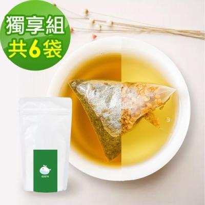 KOOS-韃靼黃金蕎麥茶+清韻金萱烏龍茶-獨享組各3袋(10包入)
