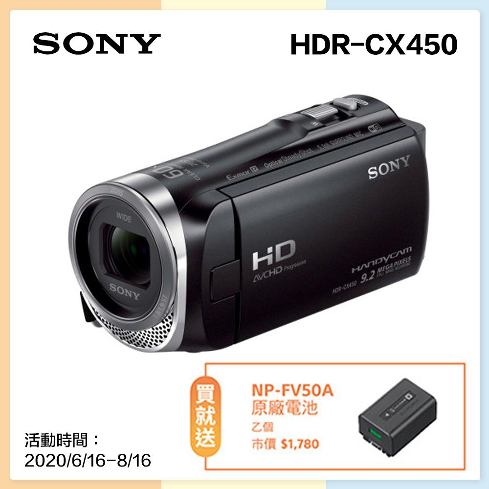 SONY數位攝影機HDR-CX450 128G記憶組(公司貨)