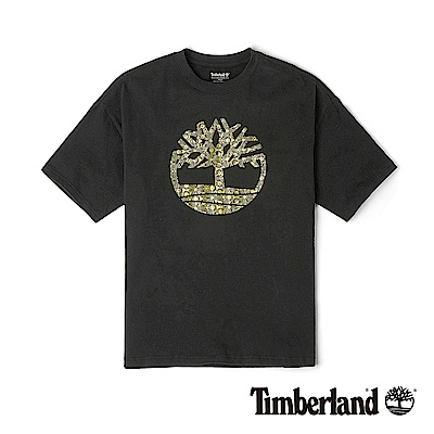 Timberland 男款黑色寬鬆短袖品牌LOGO T恤|A1XRJ
