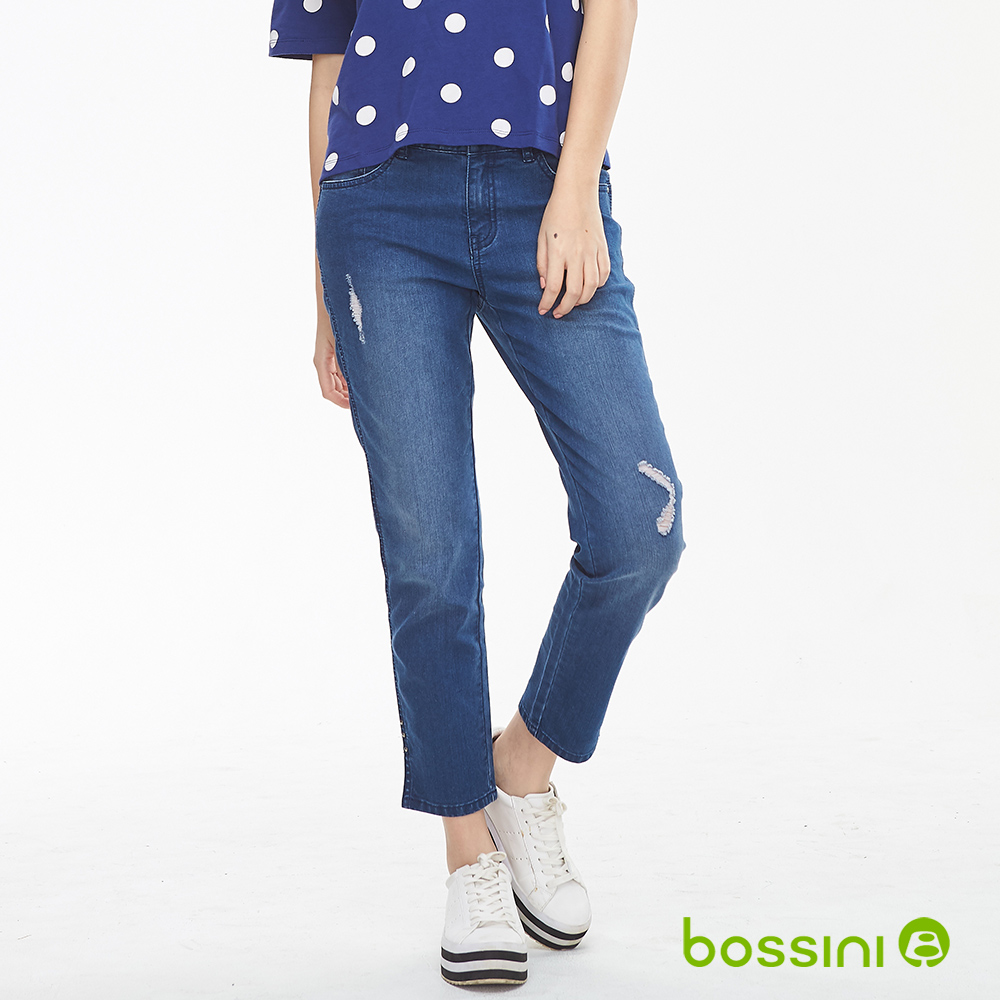 bossini女裝-ZtayCool冰涼牛仔褲02藏藍色