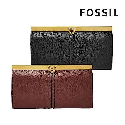 [FOSSIL] KAYLA 馬蹄型扣式手拿包-兩色任選