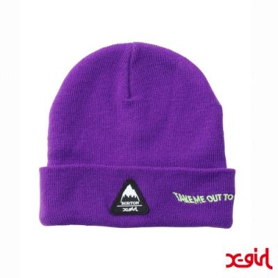 X-girl x BURTON KNIT CAP聯名毛帽-紫