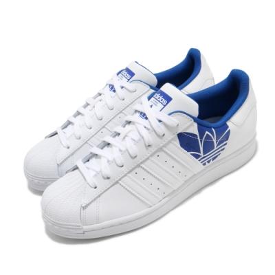 adidas 休閒鞋 Superstar 復古 低筒 男鞋 愛迪達 三葉草 皮革 貝殼頭 穿搭推薦 白 藍 FY2826
