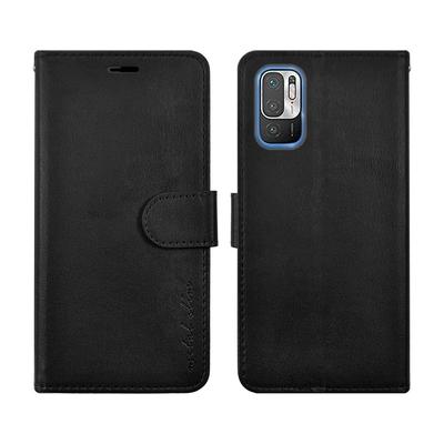 Metal-Slim 紅米Note 10 5G 高仿小牛皮磁吸多工卡匣TPU皮套