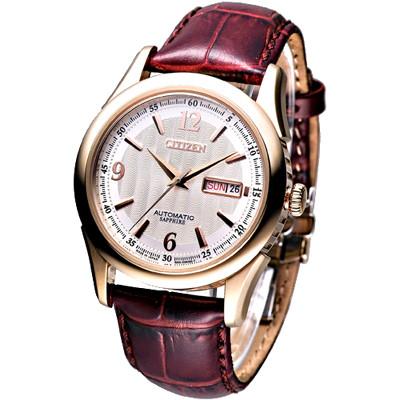 CITIZEN 時尚都會潮男自動機械腕錶(NH8316-06A)-日本製/40mm