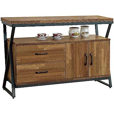 綠活居 奧帕迪時尚4尺木紋餐櫃/收納櫃-120x40x82cm免組