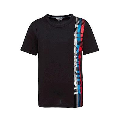 FILA 男款短袖圓領T恤-黑色 1TET-1471-BK