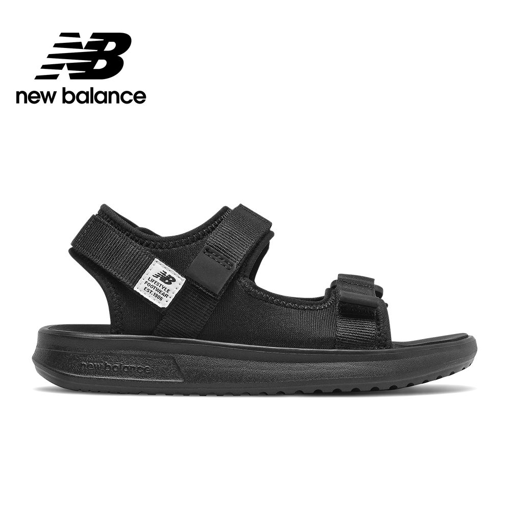 【New Balance】涼拖鞋/童鞋_中性_黑色/藍色/粉橘色 product image 1