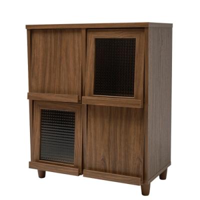 HomeFeeling 四門掀蓋式書櫃/收納櫃/書報雜誌櫃/廚房櫃(3色)