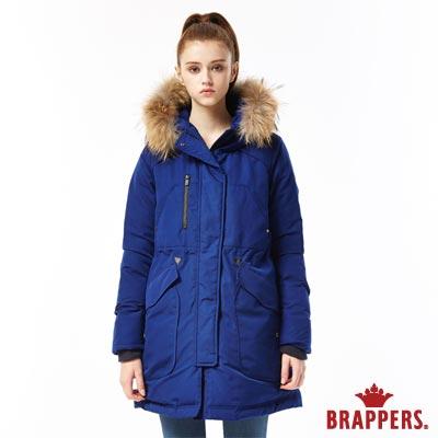 BRAPPERS 女款 休閒長版羽絨外套-寶藍