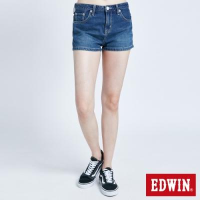 EDWIN MISS 503 牛仔短褲-女-石洗藍