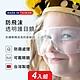 【SUNS】MIT強化透明護目鏡 安全眼鏡 防飛沫 抗霧氣 抗UV-成人款/兒童款(4入) product thumbnail 1
