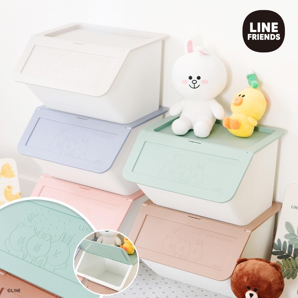 【收納皇后】LINE FRIENDS 浮雕收納箱_派對款(6入組)