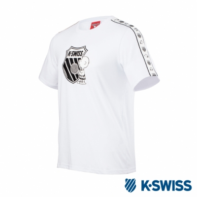 K-SWISS Tape T-Shirt SNOOPY聯名短袖T恤-男女-白