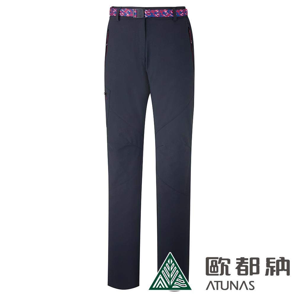 【ATUNAS 歐都納】女款CORDURA耐磨長褲(附腰帶)A-PA1902W黑