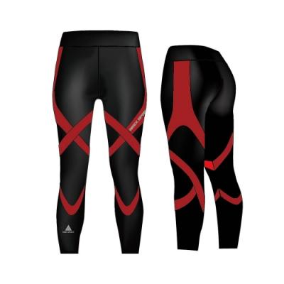 【AREX SPORT】雙層萊卡女款強力包覆重壓縮褲 高強度運動 健身 重訓 路跑