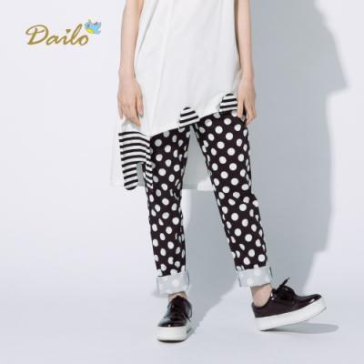 【Dailo】大點點純棉長褲(二色)