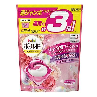 日本P&G 3D立體3倍洗衣果凍膠囊補充包(46顆入)-抗菌淨白/抗菌消臭/淡雅花香/清淨花香(四款任選)