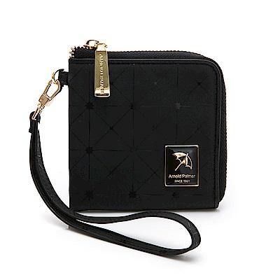 Arnold Palmer- 拉鍊零錢包附手挽帶 ALEX系列-黑色