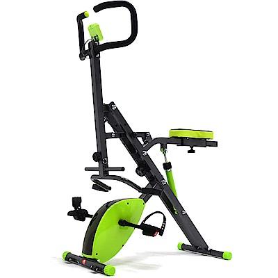 雙阻力2合1騎馬機(深蹲機+磁控健身車)