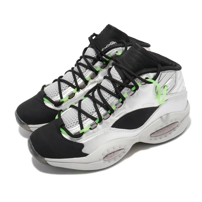 Reebok 籃球鞋 Question Mid 運動 男鞋 經典 明星款 舒適 避震 球鞋 穿搭 銀 黑 FW7548