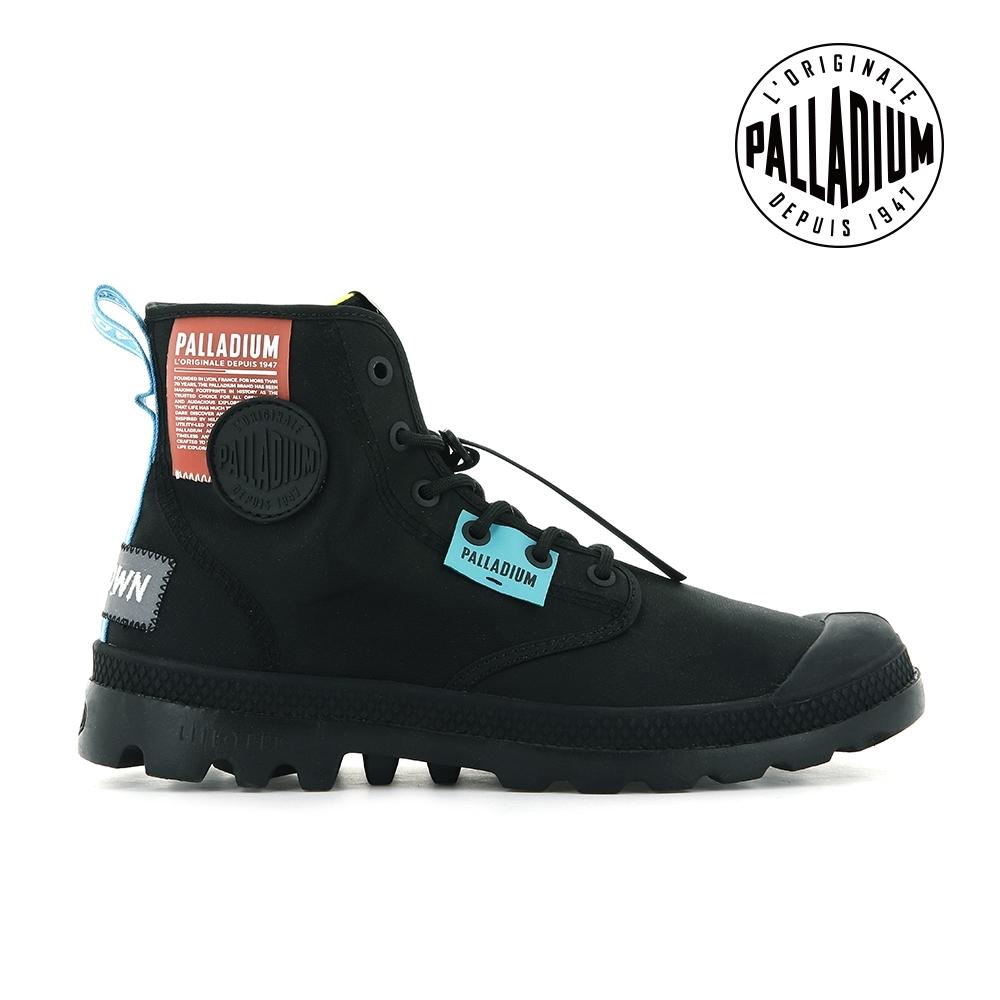 PALLADIUM PAMPA LITE OVB NEON輕量標籤軍靴-中性-黑