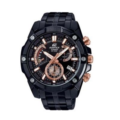 CASIO卡西歐 粗曠質感搶眼不鏽鋼男腕錶(EFR-559DC-1A)-黑x49mm